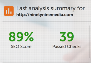 SEO Website Checkup Results